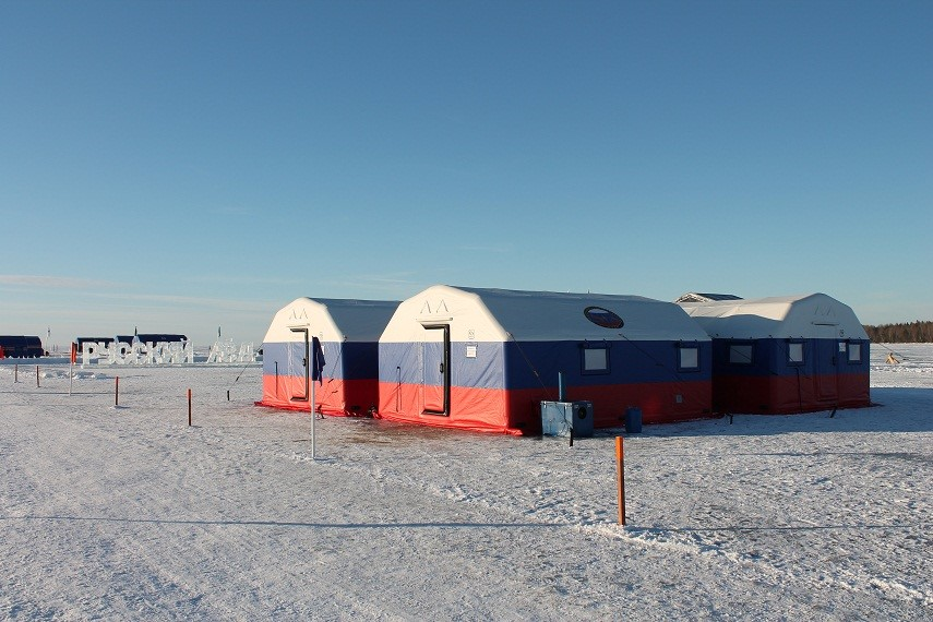 Специально подготовленный к функционированию в условиях низких арктических температур профессиональный комплекс на базе пневмокаркасных модулей Фрегат.