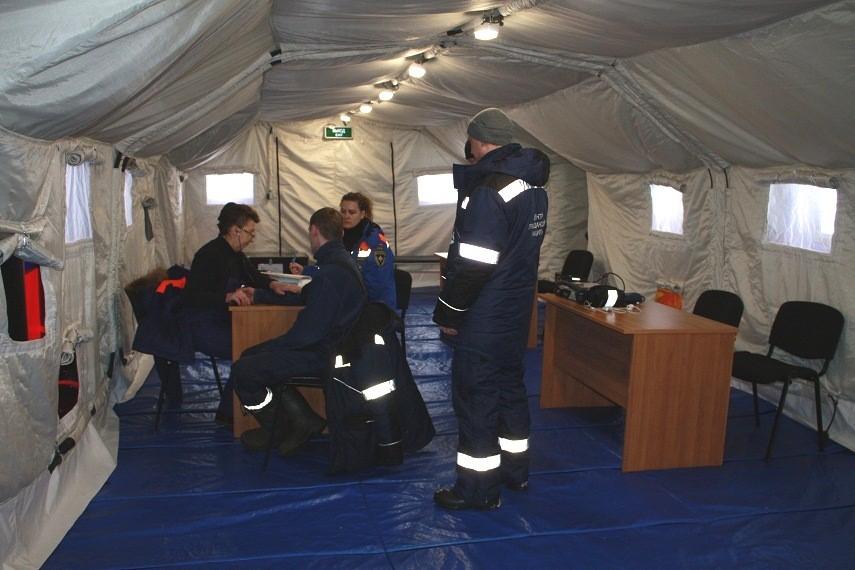 Работа медицинской комиссии в комплексе Фрегат по допуску водолазов к практическим погружениям.